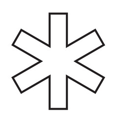 star life simple medical icon in trendy line vector image