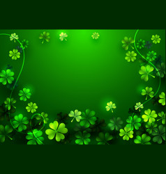 stylish happy saint patricks day greeting card vector image