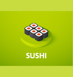 sushi isometric icon isolated on color background vector image
