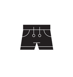 swimming trunks black concept icon vector image