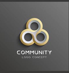 Teamwork logo social network logo design vector