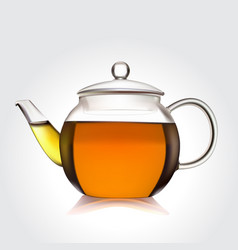 Teapot of green tea vector