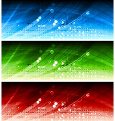 Technical banners vector