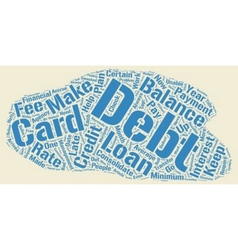 The Good And Bad News About Credit Card Debt text vector