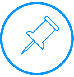 thumb pin line icon vector image
