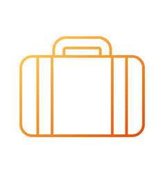 travel suitcase luggage vacation tourism icon vector image