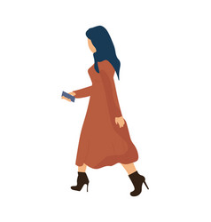 trendy woman working or going to work cartoon vector image