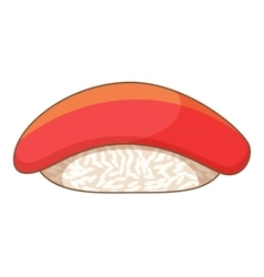 Tuna sushi icon cartoon style vector