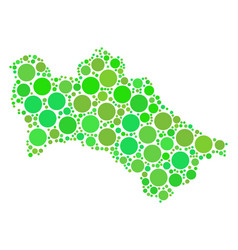 turkmenistan map composition of dots vector image
