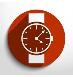 watch clock web icon vector image