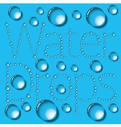 Water Drop Words vector image