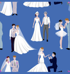 wedding couple indoors is hugging each other vector image