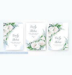 wedding invite invitation watercolor floral card vector image