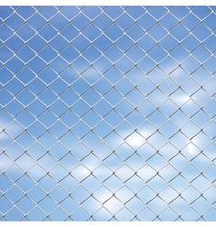 Wire Fence Against Sky2 vector