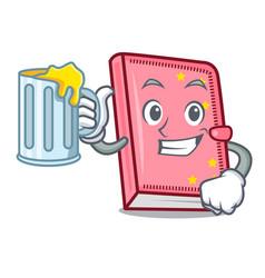 With juice diary mascot cartoon style vector