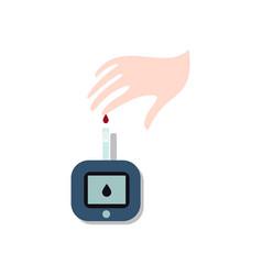 world diabetes day symbol awareness medical vector image