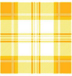yellow tartan plaid seamless pattern vector image