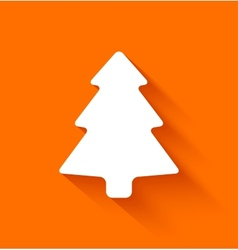 Abstract christmas tree on orange background vector image vector image