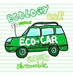 Green ecology car vector image vector image