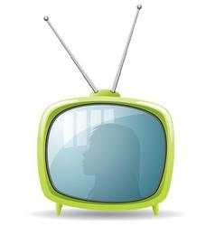retro tv set vector image vector image
