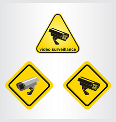 video surveillance sign vector image