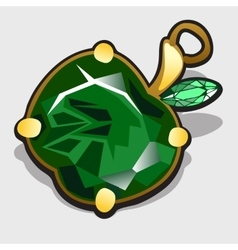 Accessory apple made of precious stones emerald vector