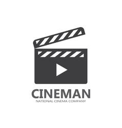 cinema logo or icon vector image