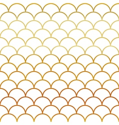Fish Gold Scales Seamless Pattern vector image