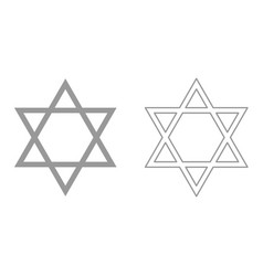Jewish star of david it is icon vector