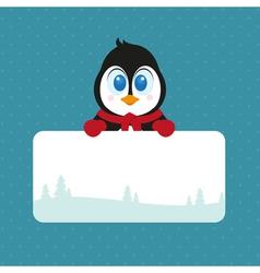 Lovely Christmas Pinguin vector image