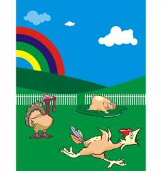 rural animals vector image vector image