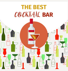 vodka and red cocktail bar banner vector image
