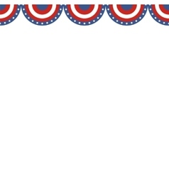 Border of American flag colors vector image vector image