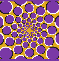 circles are moving circularly toward the center vector image