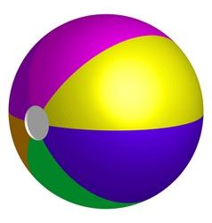 colorful beach ball vector image