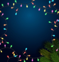 Elegant background with light garland and vector image