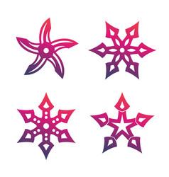 Ninja throwing stars shurikens vector