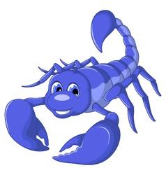 scorpion cartoon for you design vector image vector image