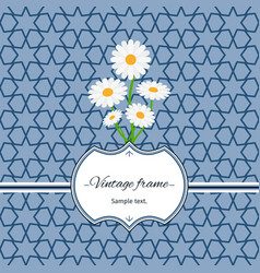 seamless pattern with frame and flowers vector image