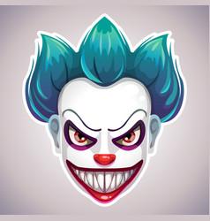 creepy clown mask vector image