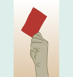 Redcard vector image