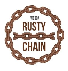 rusty chain ring emblem logo vector image vector image