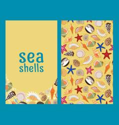 sea shells flyers or brochures vector image vector image