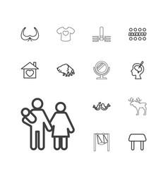 13 art icons vector