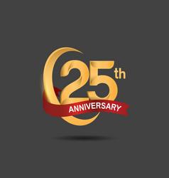 25 anniversary design logotype golden color vector