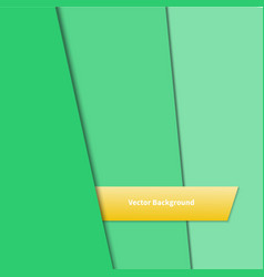 abstract background with green paper layers vector image