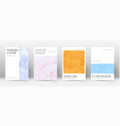 Abstract cover superb design template suminagash vector
