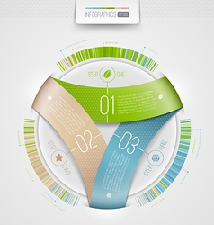 Abstract infographics design with numbered element vector image vector image