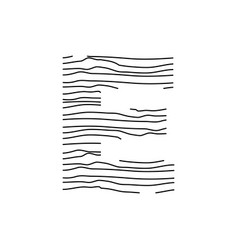Abstract line initial e vector