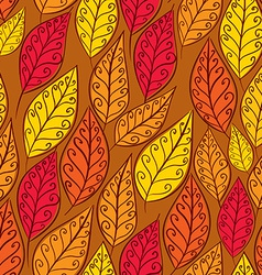 Autumn leaves seamless pattern floral seamless vector image